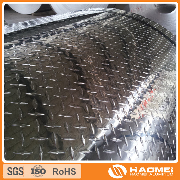 ".063 Aluminum Diamond Tread Plate 6/"" x 48/"""